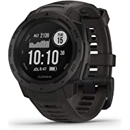 Garmin Instinct, Rugged Outdoor Watch with GPS, Features GLONASS and Galileo, Heart Rate...