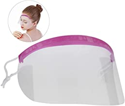 Hairspray Shield Mask - Delaman 50Pcs Multifunctional Transparent Plastic Eye Face Protector Clear