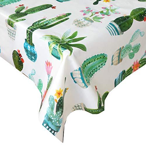 Mantel Hule Cactus · Mantel Antimanchas Resistente y Lavable · Mantel Mesa Rectangular en PVC · Hules para Mesas · Múltiples Diseños y Económicos · Medidas ( 100/120 cm x 140 cm )