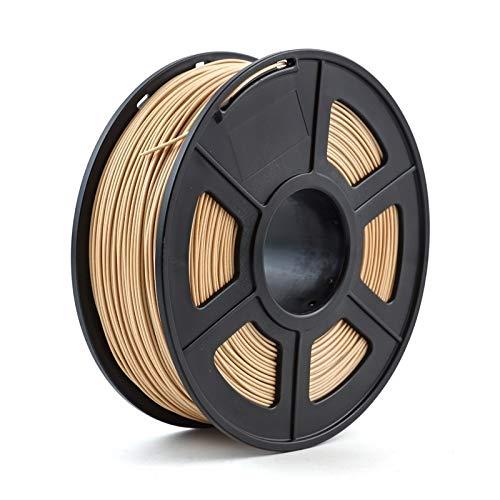 DZWLYX Impresora 3D de filamentos 1.75mm 1 kg / 2,2 Libras PLA PETG TPU de Nylon de Fibra de Carbono Conductor ABS PC Pom ASA Madera Hips PVA plástico Filamento (Color : Wood)