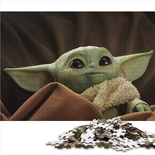 Visionpz Puzzles für Erwachsene 1000-teiliges Puzzle Star Wars Baby Yoda Familienpuzzleset The Film Puzzle-Lernspiel für den Stressabbau bei Erwachsenen 38x26cm