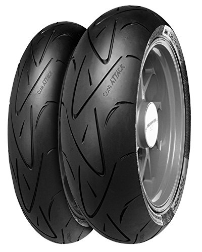 Continental 02444000000 Conti Sport Attack Hypersport Rear Tire - 190/50ZR-17 , Position: Rear, Rim Size: 17, Tire Application: Sport, Tire Size: 190/50-17, Tire Type: Street, Load Rating: 73, Speed Rating: (W), Tire Construction: Radial
