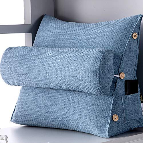 Keilkissen Für Bett Und Sofa | Rückenstütze | Nackenkissen | Lesekissen | Das Perfekte Couch Kissen Für Ihr Zuhause,M-45X22X50CM