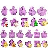 PhoenixDN 12 Pezzi Cookie Cutter Set, Stampo per Biscotti per Bambini, per Biscotti per Cucina Decorazioni per Torte Natalizie Accessori, Fai da Te e Bambini Torta di Biscotti Fondente 3D per Bambini