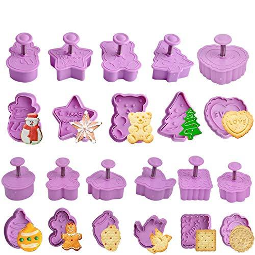 12 Pièces Emporte-Pièce de Noël, Moule à Biscuits pour Enfants, Formes de Coupes à Biscuits pour La Cuisine, Accessoires de Décorations de Gâteau de Noël, Bricolage et Enfants Gâteau Fondant 3D