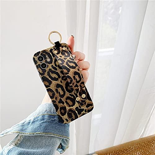 FYMIJJ Estuche para teléfono con Correa de muñeca con patrón de Cebra y Leopardo paraiPhone 12 Pro MAX Mini 11 SE 2 X XS XR 7 8 Plus Funda de Silicona, b, iPhone 12 Pro MAX