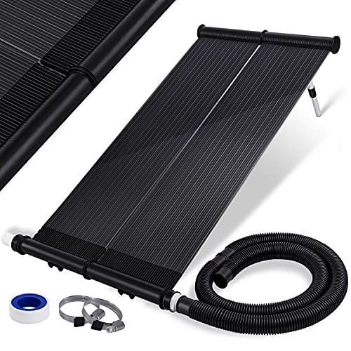 KESSER® Solarkollektor ECO Poolheizung 108 x 74 x 15cm (L x B x H), Warmwasser Heizung Solarheizung für Pools l UV-beständiger Kunststoff l Durchflussmenge 10.000 Litern pro Stunde