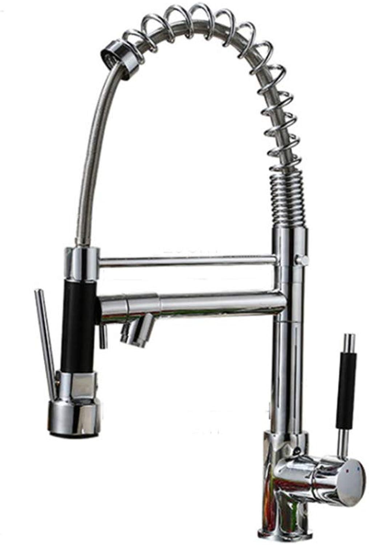 FANLX Wasserhahn Küche Wasser Drachen Küche Doppel Grünikale Waschbecken Frühling Warmen und Kalten Küche Mischbatterie Waschbecken Wasserhahn Kupfer Rotator Wasserhahn Waschbecken Wasserhahn
