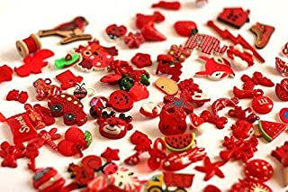 TomToy Red I Spy Trinkets, Miniatures by Color, 1-3cm, Set of 50