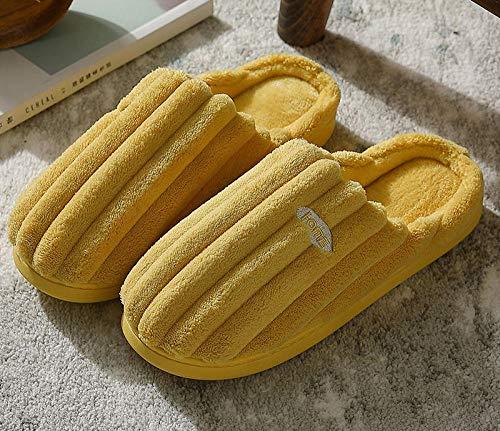 B/H Suave Flat Slipper Zapatillas de casa,Bolso con Divertido trapeador de algodón Negro Peludo, Zapatillas de vellón