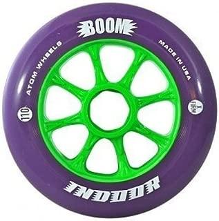 Atom Boom Purple Indoor XFirm 93a Inline Speed Skate Wheels