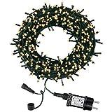 Luci Natale da Esterno, Luci Albero di Natale, 98ft 300 LED 8 Modalità Luci da Stringa, Catena luminosa Interno Decorative per Giardini, Camera, Matrimonio, Balcone (Bianco Caldo)