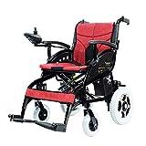SSHHI Leichter elektrischer Rollstuhl, faltbarer intelligenter Schiebewanderer für ältere Menschen, Behinderte Dauerhaft/rot / 105 x 66 x 94 cm