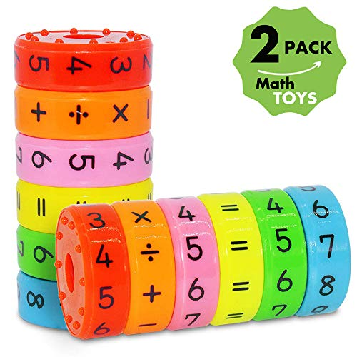 CHILHOLYD Learning Toys Math Toy Montessori Preschool Learning Educational Counting Game Numbers and Symbols Math Skills Colorful Fridge Kindergarden Educational Tools Math Blocks Great Gift for Kids