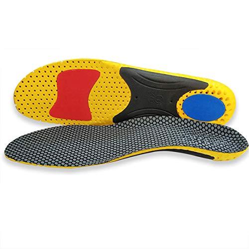BYASW 2 Paar Ganzkörper Orthotic Einsätze mit Senkfußeinlage Sportschuheinlagen Comfort Arch Support Einlegesohlen für Flat Feet, Orthopädische Funktionseinlegesohlen für Unisex,38