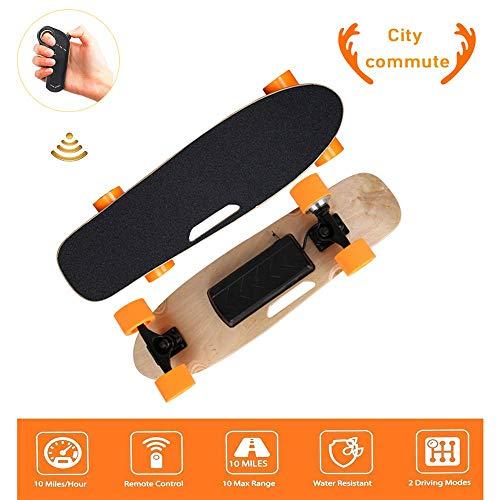 Mini monopatín eléctrico, monopatín eléctrico, con Control inalámbrico Bluetooth Remoto, Long Board...