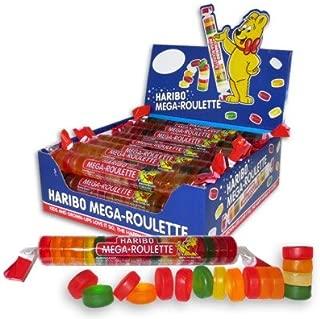 Haribo Mega-Roulette Gummi Candy 24ct CASE (1.5oz Rolls)