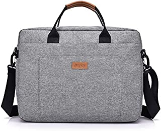 Yuanzengjunfva 16 Inch Laptop Bag Handbag Oxford Cloth Business Briefcase Bag Fashion Men and Women Shoulder Slung Big Bag (Color : Grey)