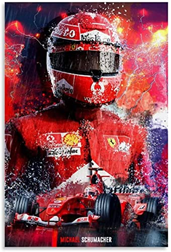 Adultos Puzzle 500 Piezas Niños Rompecabezas F1 Racing Driver HD Campeón del mundo Michael Schumacher y Picture 500 Piece 20.4x15inch(52x38cm) Sin Marco