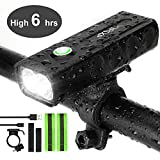 IPSXP Bicycle Headlight, USB Rechargeable 1000 Lumen LED Bike Front Light High Bright 6 Hours Mountain Road Cycling Safety Commuter Flashlight with 3 Modes, Waterproof Bike Light