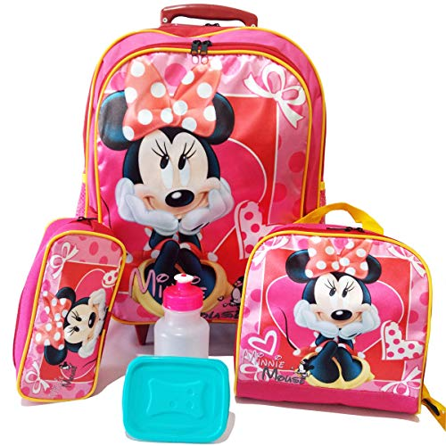 Kit Mochila Infantil Minnie Mouse Tam G