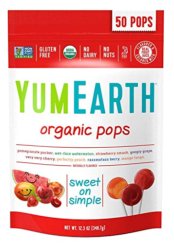 YumEarth Organic Lollipops, Assorted Flavors, 50 Count