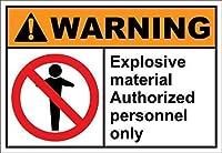 危険ボイラー室の許可された人員のみの危険ラベル メタルポスタレトロなポスタ安全標識壁パネル ティンサイン注意看板壁掛けプレート警告サイン絵図ショップ食料品ショッピングモールパーキングバークラブカフェレストラントイレ公共の場ギフト