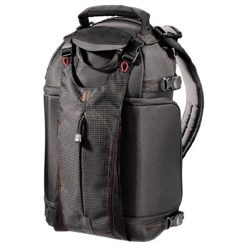 Hama Umhängetasche für eine Spiegelreflexkamera mit bis zu 7 Objektive, Sling-Bag, Katoomba 190RL, Schwarz