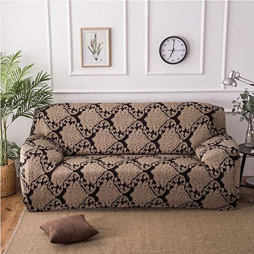Couverture de canapé d'impression colorée géométrique Housses élastiques Housse de canapé Anti-Sale Couverture de Meubles de canapé Serviette Tout Enveloppement A19 1 Place