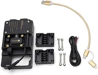 KKmoon Accesorios de soporte de navegación para teléfono móvil con cargador USB compatible para R1200GS LC y Adventure S1000XR R1200RS