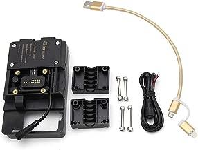 KKmoon Accesorios de soporte de navegación para teléfono móvil con cargador USB para BMW R1200GS LC y Adventure S1000XR R1200RS