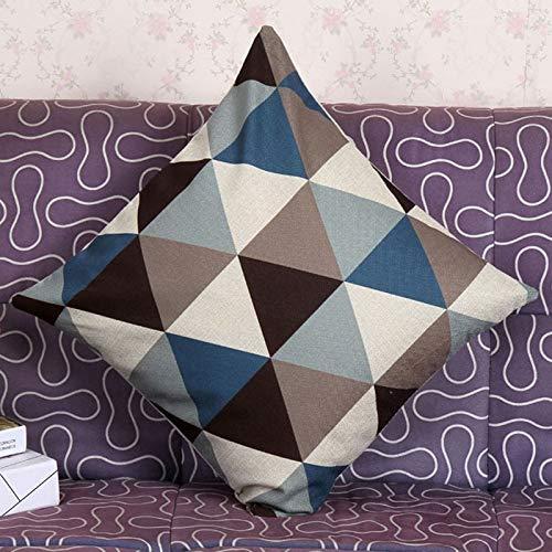 yywl Funda de almohada nueva funda de almohada almohada cojín de apoyo geométrico para cuello