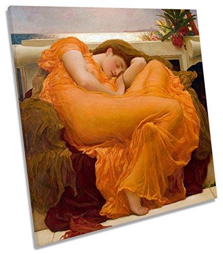 potente para casa Lienzo cuadrado Frederic Leighton Framing June – Lienzo decorativo (60 cm x 60 cm de ancho)