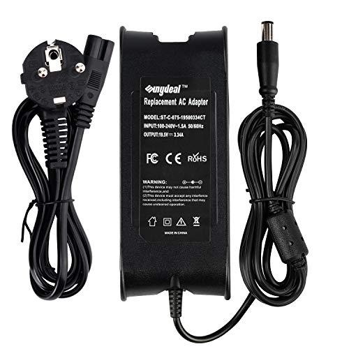 Sunydeal Cargador Adaptador 65W para Portátil Dell 19.5V -3.34A/5A, 7.4*5.0mm, Compatible con Dell Inspiron 13z 14z 14R 15R Latitude E5250 E5440 E5450 E5540 E5550 E6440 E6540 E7240 E7440 Precision M20, M60, M65, M70, M140, M1210