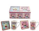 Cupcakes Tasse und Untersetzer One Set in einer Dose