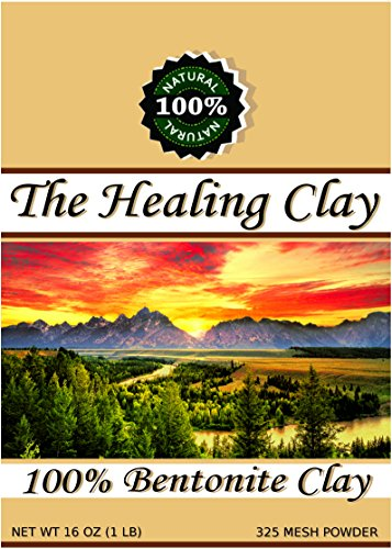 The Healing Clay Best Sodium Bentonite Clay Powder 100% Organic 325 Mesh for Body Mask, Hair, Bath Detox, Toothpaste, Acne, Insect Bites, add to Kitty Litter, Pond Sealer (16 Ounce 1/2 Pound Bag)