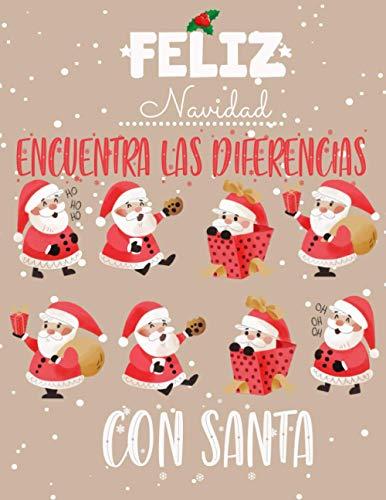Encuentra las Diferencias: Busca y encuentra diferencias libros niños de Navidad, 7 diferencias entre dos imágenes con respuestas, Libro de actividades para niños 4-8 años