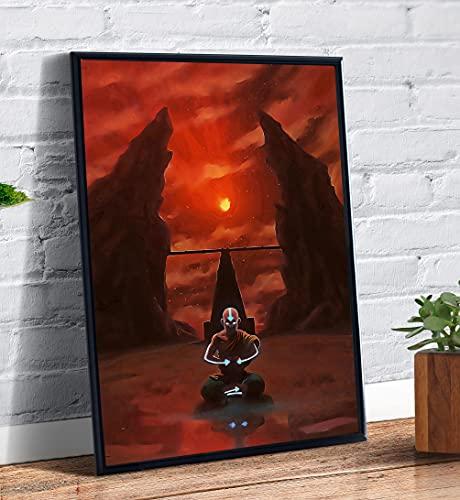 Quadro decorativo Poster Avatar Lenda De Aang Anime Desenho