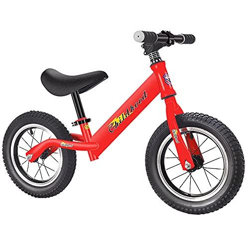 QSYY Bicicleta De Equilibrio para Niños De 12 Pulgadas, Bicicleta De Entrenamiento De Neumáticos EVA Inflable, Herramienta para Montar Al Aire Libre, Manillares Ajustables para Niños De 2 A 6 Años