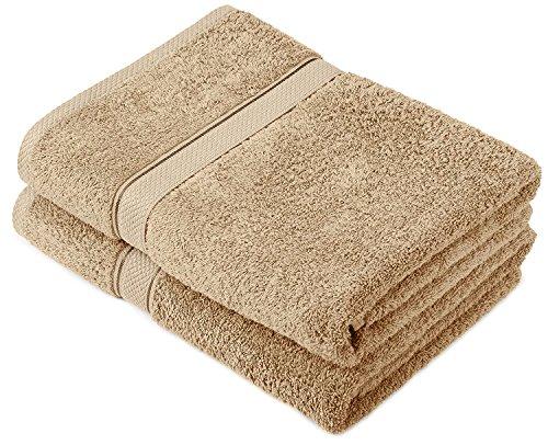 Buoqua Driftwood - Set di 2 asciugamani da bagno in cotone, 600 g/m²