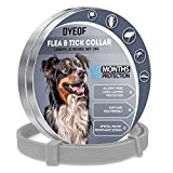 DYEOF Flea Tick Collar for Dogs - 12 Months Protection - Hypoallergenic, Adjustable