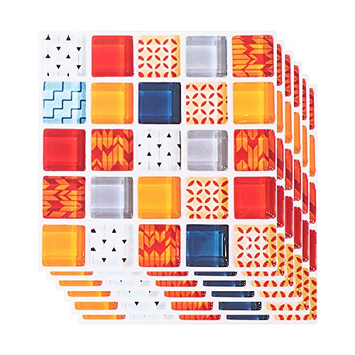 Beyonday 6pcs/set Bathroom Mural 3D Kitchen Floor Tiles Wall Decals Diagonal Sticker Mosaic(2)