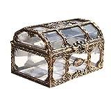 Toyvian Caja de plástico Transparente para el Tesoro del Pirata con Joyas de...