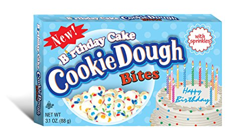 Taste of Nature Inc. Cookie Dough Bites 3.1 Boxes, White, birthday cake, 93 Oz (Pack of 30)