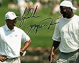 Limited Edition Tiger Woods Michael Jordan Signiert Foto