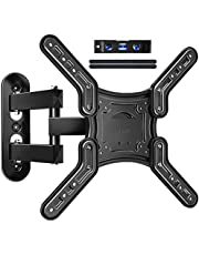 JUSTSTONE Full Motion TV Wall Mount for Most 26-55 Inch LED, LCD TVs, Tilt TV Bracket with Swivel Articulating Arms, up to VESA 400x400mm and 80 lbs, Easy Center Design TV Mounts .