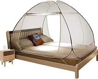 蒙古包蚊帐 三开门免安装 可折叠便携式帐篷 防止坠床 防止昆虫 适合是室内和户外 4 feet