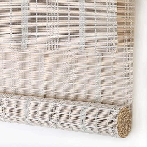 JMBF Tende da Patio Roll Up Outdoor Bamboo Outdoor Roller Shades, con Lifter Water Proof Protezione UV Filtraggio della Luce tonalità di Legno, Tende Arrotolabili in bambù,A-80 * 200cm 31.5 * 79in