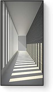 Tableau à suspendre de qualité en noir et blanc pour porche, couloir, allée à suspendre verticale, durable (couleur : C, t...