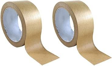 2 rouleaux de ruban de masquage de papier kraft /écologique 50 mm x 50 m Sabco